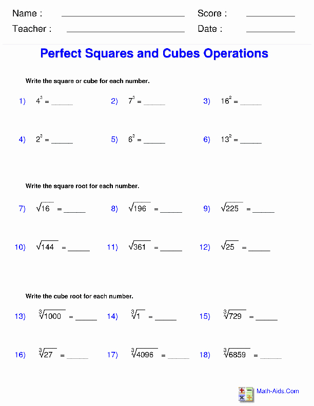 Radicals and Rational Exponents Worksheet Unique Exponents and Radicals Worksheets