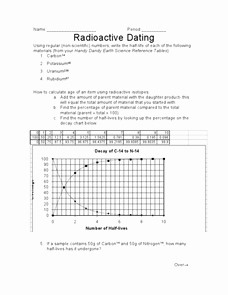 Radioactive Decay Worksheet Answers New Radioactive Dating 9th 12th Grade Worksheet
