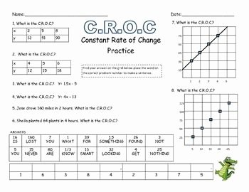 Rate Of Change Worksheet Fresh 7 4a Constant Rate Of Change Practice Sheet Self