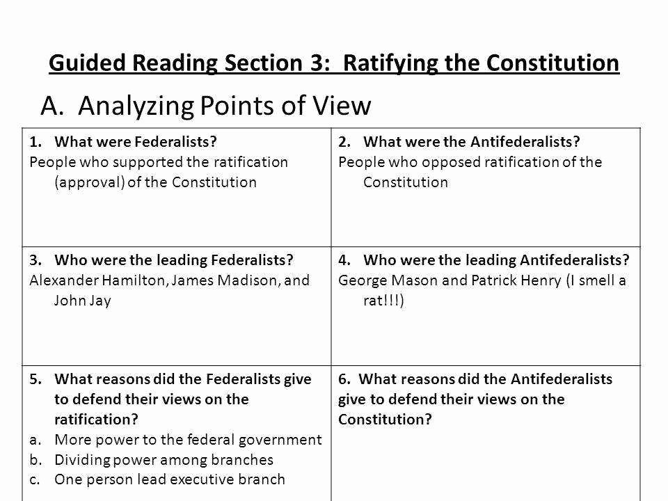 Ratifying the Constitution Worksheet Answers Best Of Constitution Worksheet