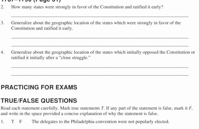 Ratifying the Constitution Worksheet Answers Elegant Our Review Of the Constitution Chapter Reviewing the