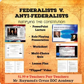 Ratifying the Constitution Worksheet Answers Fresh Federalists V Anti Federalists Ratifying the