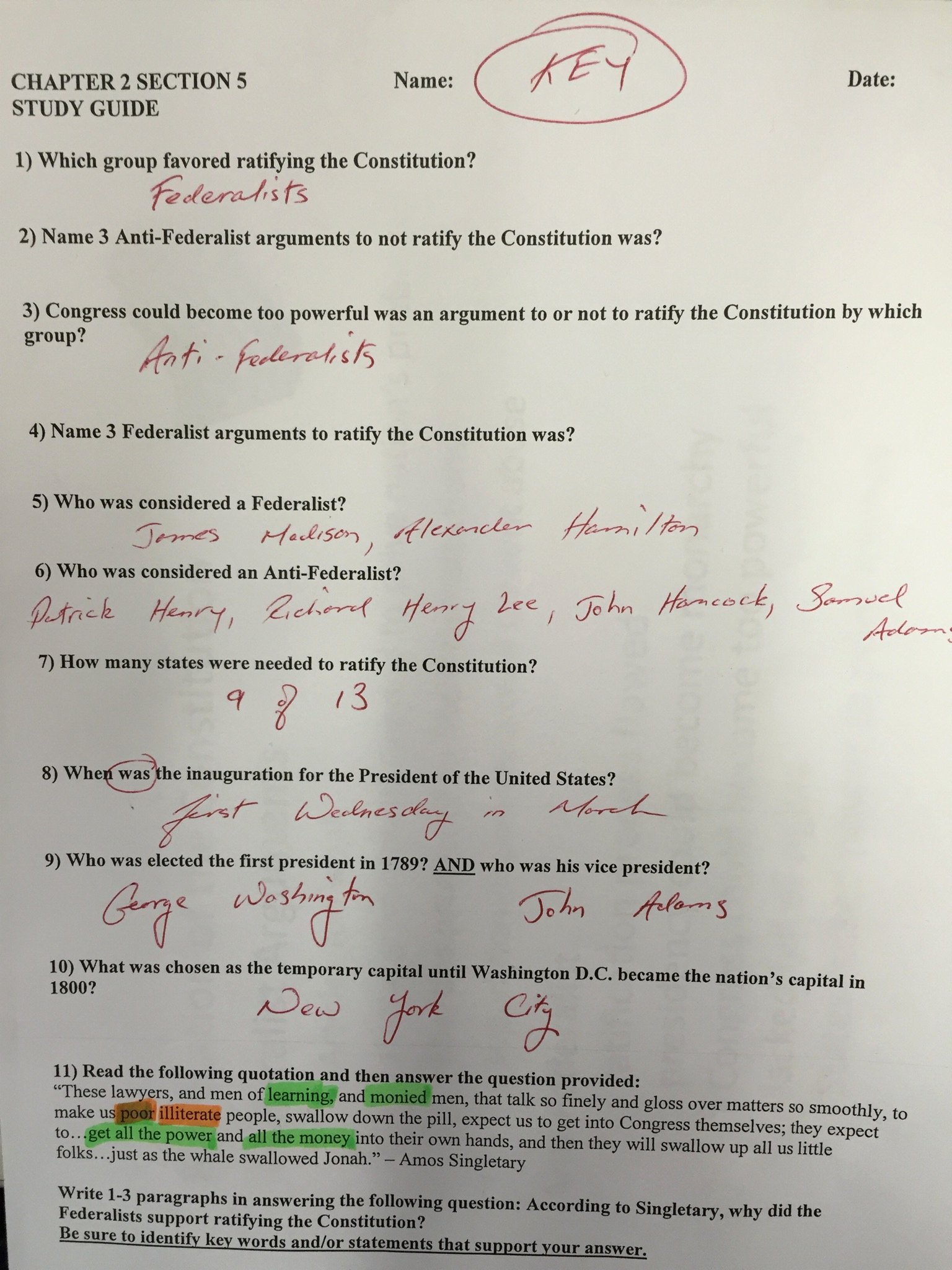 Ratifying the Constitution Worksheet Answers New Worksheet Ratifying the Constitution Worksheet Grass