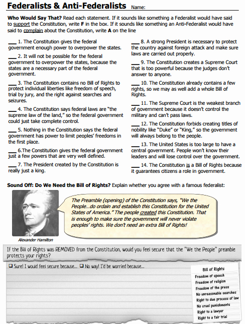 Ratifying the Constitution Worksheet Answers Unique Unit 3 Road to Ratification Mrs Williams 7th Grade Civics