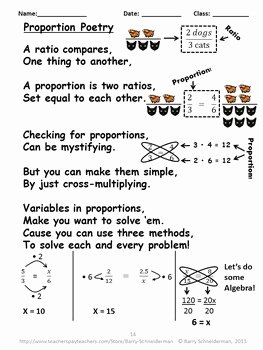 Proportions Worksheets Notes Math Poetry Warm up Problems