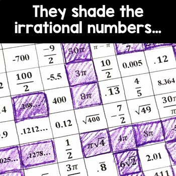 Rational and Irrational Numbers Worksheet Inspirational Pi Day Acitivity Rational and Irrational Numbers by Rise