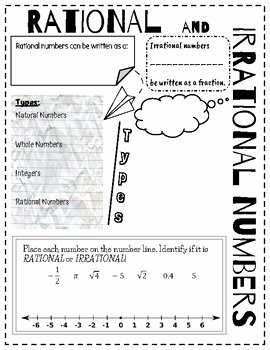 Rational and Irrational Numbers Worksheet Luxury Doodle Notes Rational & Irrational Numbers by Mrs Os