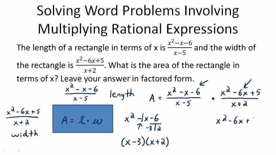 Rational Equations Word Problems Worksheet Elegant Multiplying Rational Expressions Worksheet
