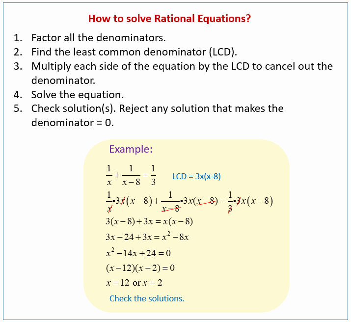 Rational Equations Word Problems Worksheet Inspirational solve and Graph Rational Equations Examples solutions