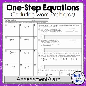 Rational Equations Word Problems Worksheet Luxury E Step Equations Quiz or Worksheet Includes Word