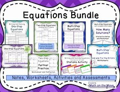 Rational Equations Word Problems Worksheet Luxury Equations & Word Problems Task Cards 7th Grade 7 Ee B 4a