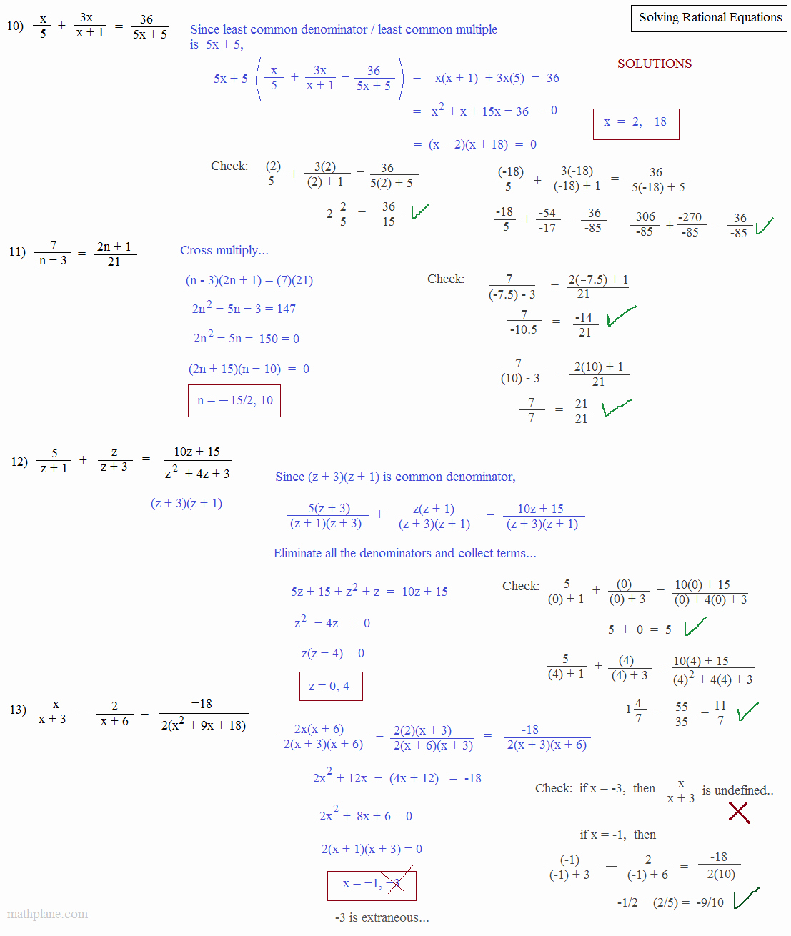Rational Equations Word Problems Worksheet Luxury Math Plane solving Rational Equations