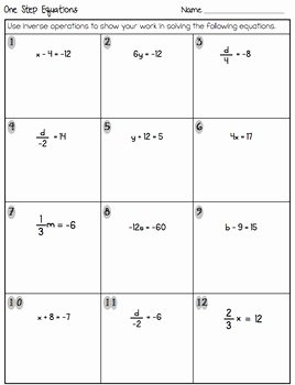 Rational Equations Word Problems Worksheet New E Step Equations Quiz or Worksheet Includes Word