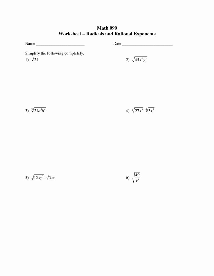 Rational Exponents and Radicals Worksheet Fresh 17 Best Images About Education On Pinterest