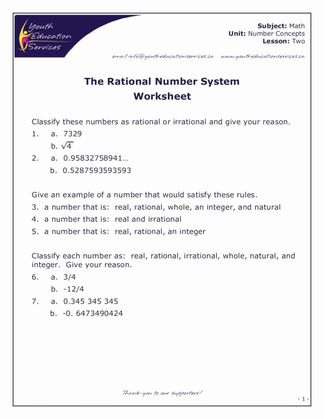 Rational Vs Irrational Numbers Worksheet Awesome Rational Irrational Numbers Worksheet 8th Grade Rational