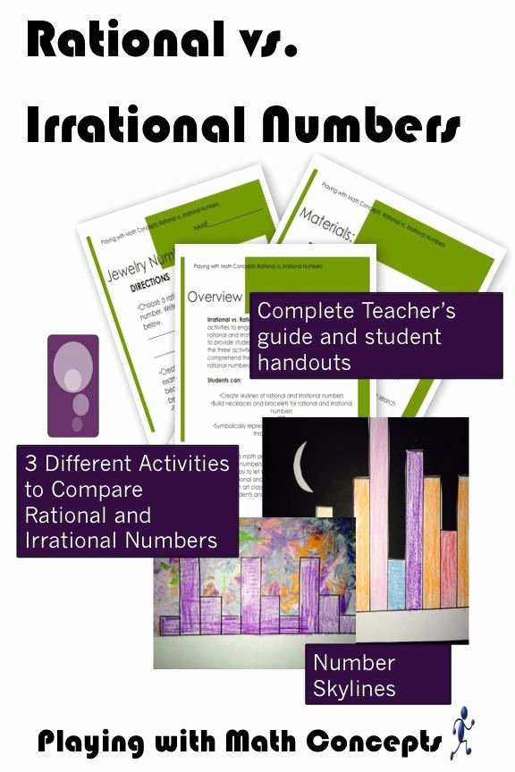 Rational Vs Irrational Numbers Worksheet Luxury Move Out Of Just the Numbers to Engage Students In the
