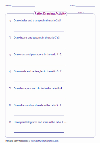 Ratios and Proportions Worksheet Awesome Ratio Worksheets