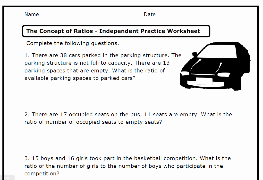 Ratios and Proportions Worksheet Luxury Ratios 6 Rp A 1 2 3 A B C D – Printable Worksheets