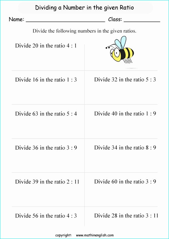 Ratios and Proportions Worksheet Luxury Ratios and Proportions Worksheets