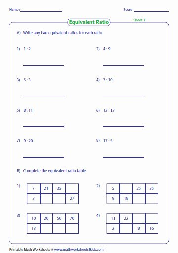 Ratios and Proportions Worksheet New Ratios Worksheets