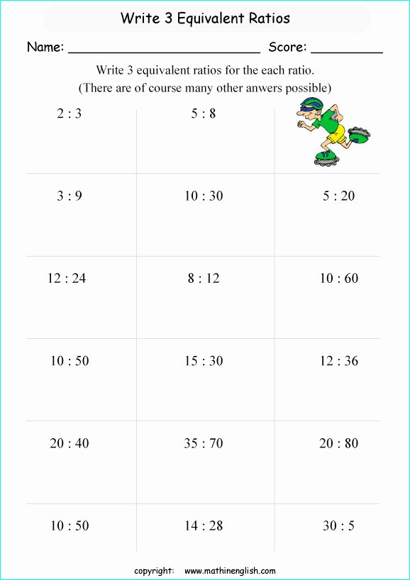 Ratios and Proportions Worksheet Unique Ratio and Proportion Worksheets