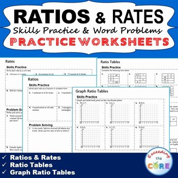 Ratios and Rates Worksheet Elegant Ratios & Rates Homework Practice Worksheets Skills