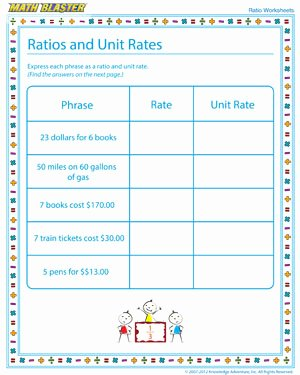 Ratios and Rates Worksheet Inspirational Ratios and Unit Rates – Ratio Worksheet Free Printables