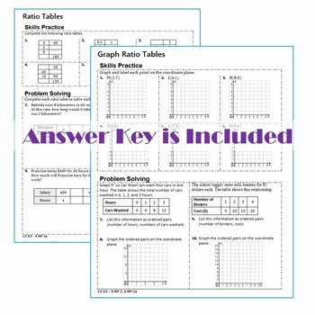 Ratios and Rates Worksheet Lovely Ratios & Rates Homework Practice Worksheets Skills