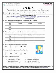 Ratios and Rates Worksheet Luxury Ratios Rates and Percentages 6th Grade Worksheet