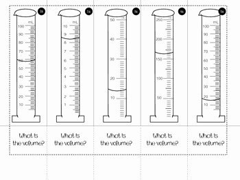 Reading A Graduated Cylinder Worksheet Best Of Volume Of Graduated Cylinders Foldable by Smith Science