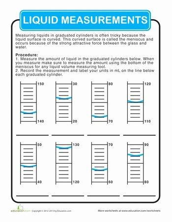 Reading A Graduated Cylinder Worksheet Luxury Graduated Cylinder Measurements