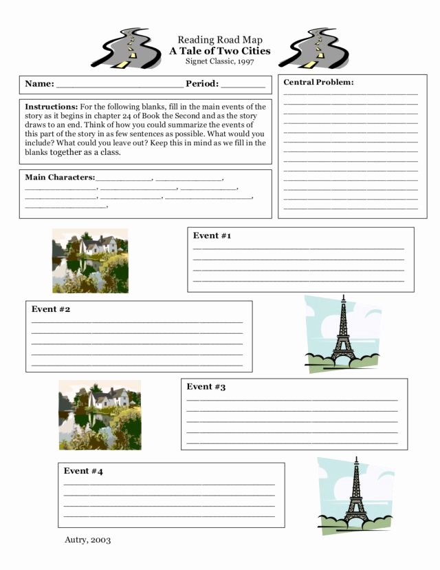 Reading A Map Worksheet Best Of Reading Road Map A Tale Of Two Cities Worksheet for 4th