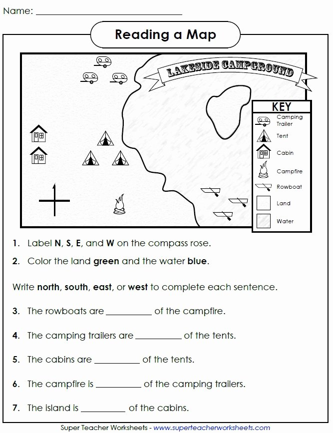 Reading A Map Worksheet Best Of social Stu S Skills
