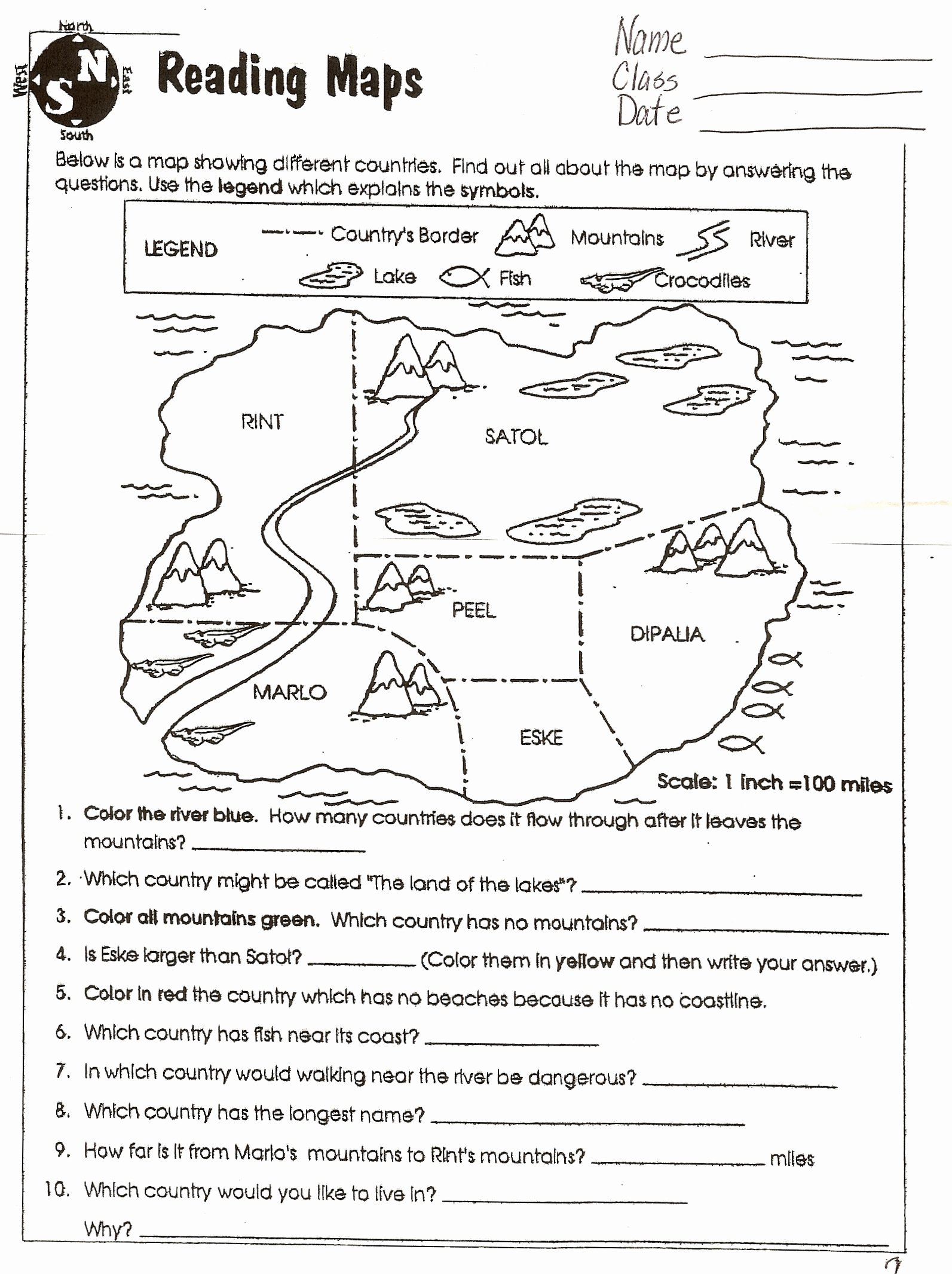 Reading A Map Worksheet Elegant social Stu S Skills