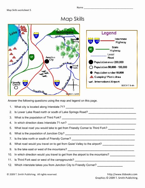 Reading A Map Worksheet New Map Skills 101 Collection