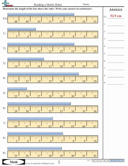 Reading A Metric Ruler Worksheet Best Of Worksheet E More Measurement Worksheet Activities