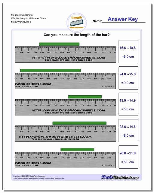 Reading A Metric Ruler Worksheet Fresh Metric Measurement