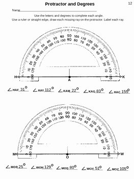 Reading A Protractor Worksheet Awesome 4th Grade 4 7c Staar Reading A Protractor and Test 35