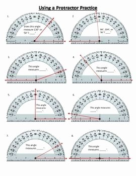 Reading A Protractor Worksheet Awesome Using A Protractor to Measure Angles