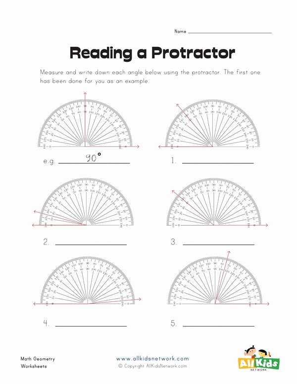 Reading A Protractor Worksheet Beautiful Reading A Protractor Worksheet