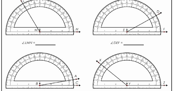 Reading A Protractor Worksheet Beautiful Teach Students to Measure Angles with these Protractor