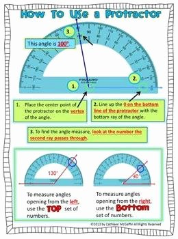 Reading A Protractor Worksheet Best Of How to Use A Protractor Freebie by Downeast Teach