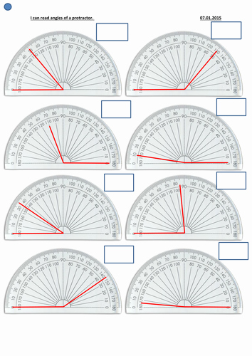 Reading A Protractor Worksheet Fresh Reading An Angle On A Protractor Differentiated by