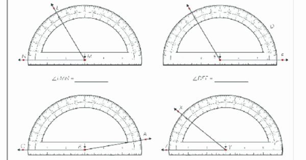 Reading A Protractor Worksheet Inspirational Using A Protractor 2