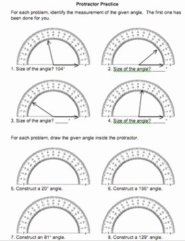 Reading A Protractor Worksheet Lovely Measuring Angles Protractor Practice 4 Md C 6 by Eric