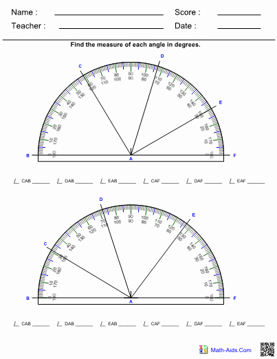 Reading A Protractor Worksheet New Measurement Worksheets with Answer Sheet I Teachersherpa