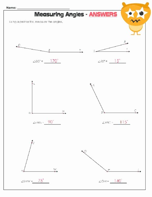 Reading A Protractor Worksheet New Measuring Angles Worksheet