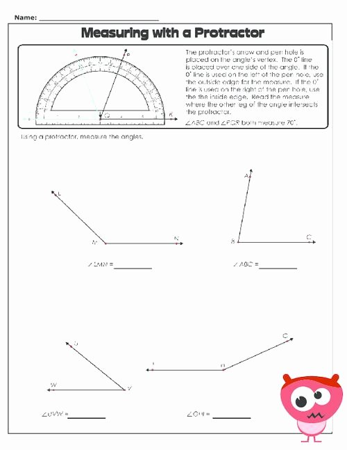 Reading A Protractor Worksheet Unique 12 Best School Images On Pinterest