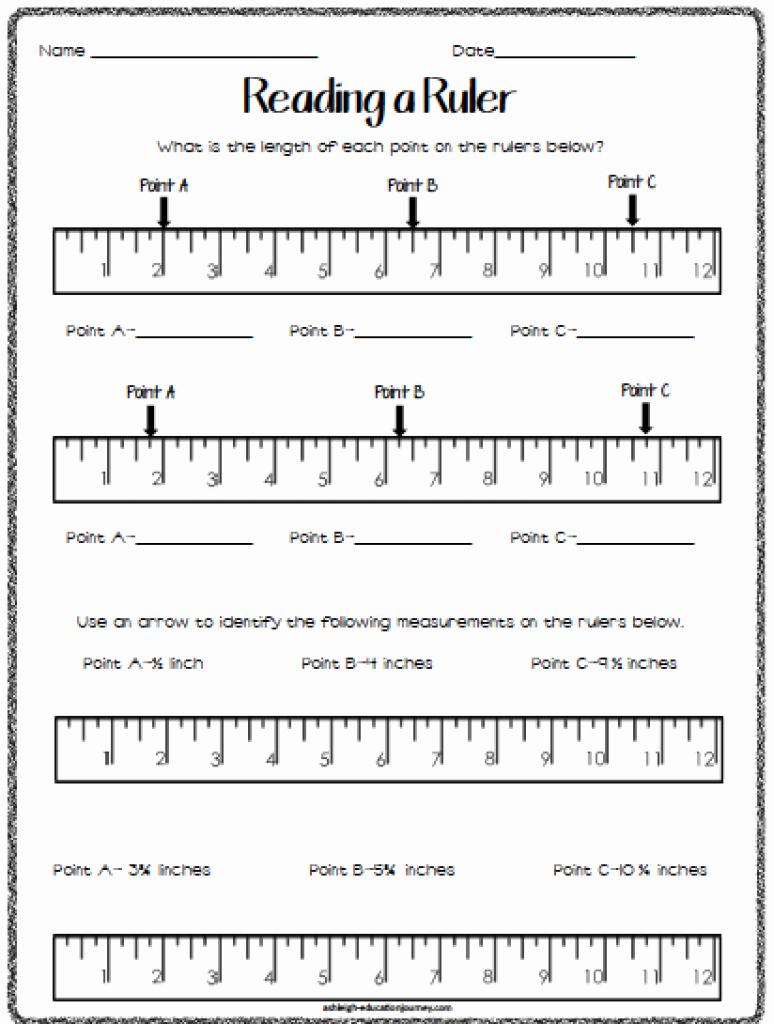 Reading A Ruler Worksheet Pdf Beautiful Linear Measurement