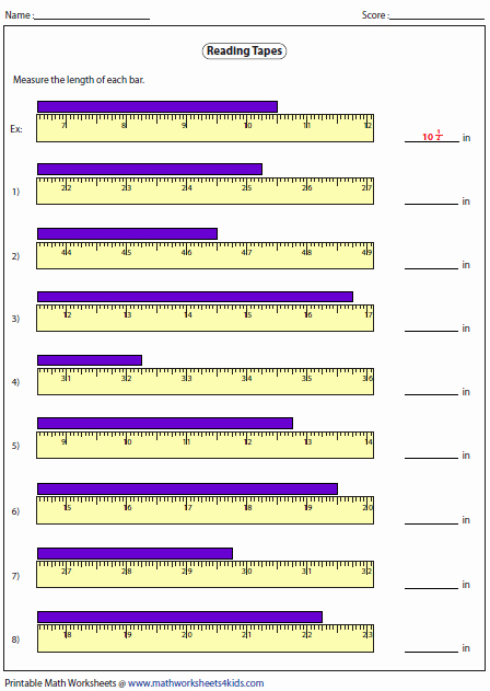 Reading A Tape Measure Worksheet Awesome Measuring Length Worksheets